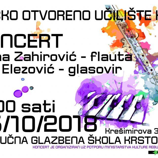 Koncert Ivane Zahirović i Mie Elezović