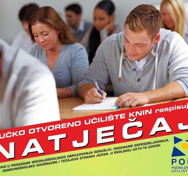 Upisi u programe obrazovanja u školskoj 2015./2016. godini