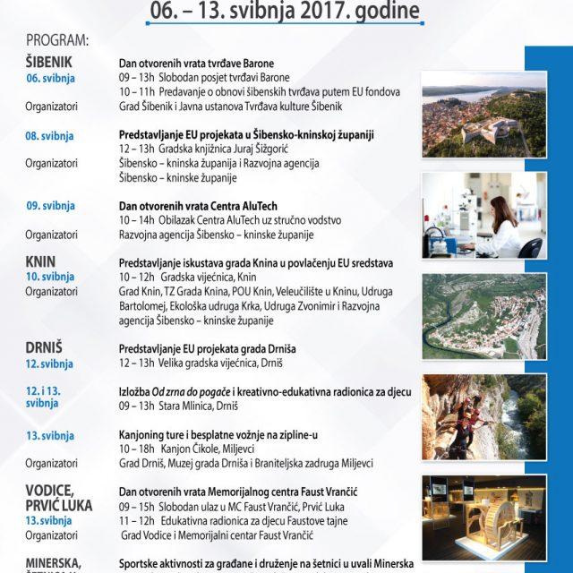 Dani otvorenih vrata EU projekata u Šibensko-kninskoj županiji